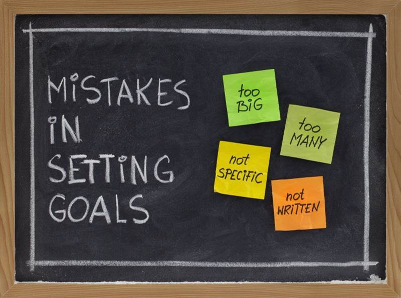 Mistakes in setting goals